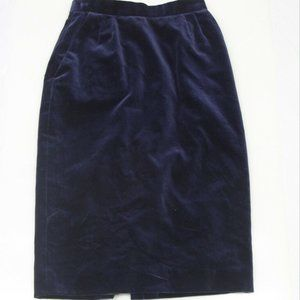 Vintage Evan Picone Navy Blue Pencil Skirt Sz 4